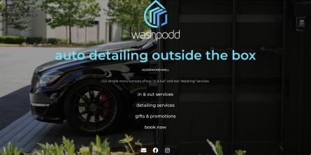 washpodd website desktop screenshot